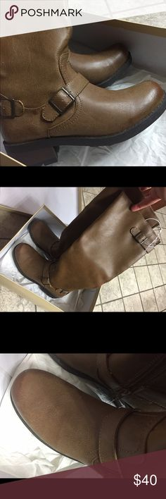 NEW IN BOX / Brown Boots Size 7 Brown/Cognac Boots.  New in box.  Never worn. Shoes Winter & Rain Boots