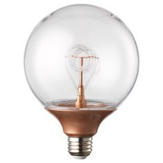 Best IKEA NITTIO LED bulb lumen Globe copper colour mm Uses LED which consumes up to less energy and last times longer than incandescent
