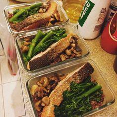 Meal prep done  #salmon #mealprepsunday #thatgymlife by katych3n