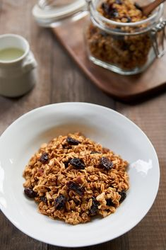 Crispy granola with big chunks of cherries and sweet vanilla beans is easy to make and delicious.