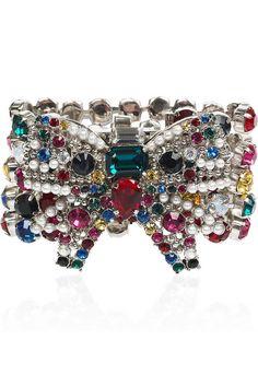miu miu bow - jewel tones