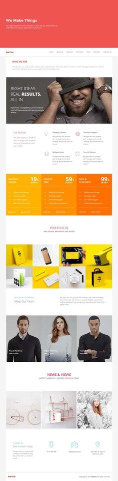 Matrix - Multipurpose Page Template #HTML5templates #webtemplates #psdtemplates…