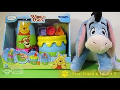 WINNIE the POOH Stacking TOY Stack, Pour, Post & Play unboxing DISNEY TO...