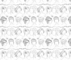 Hair Art fabric by majoranthegeek on Spoonflower - custom fabric