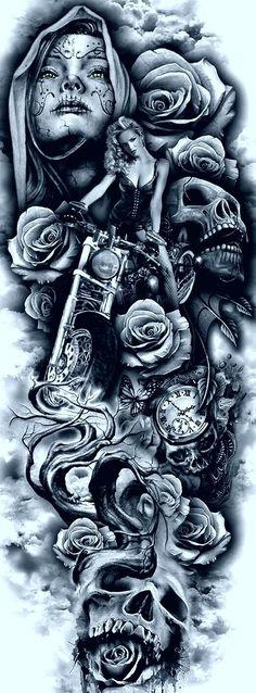 Antebrazo - My list of best tattoo models Biker Tattoos, Badass Tattoos, Skull Tattoos, Leg Tattoos, Body Art Tattoos, Sleeve Tattoos, Cool Tattoos, Kunst Tattoos, Chicano Tattoos