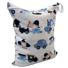 LilBit Wet Dry Bag , Waterproof Minky Two Zippers Baby Diaper Bag , Retail/Wholesale