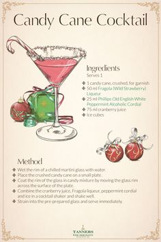 This year, take those #delicious candy canes from your tree and create this wonderful #cocktail #recipe