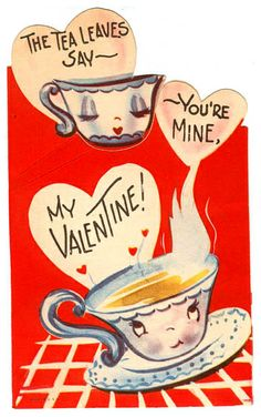 My dear Pinterest Tea Buddies - I wish a day of floating in love. Happy Valentines Galentines Day! ❤️❤️❤️ Vintage Valentine: Tea Leaves by pageofbats, via Flickr