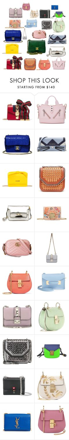 SPRING  MINI BAGS by nadinezvous on Polyvore featuring mode, Chanel, Gucci, Kenzo, Karl Lagerfeld, STELLA McCARTNEY, Chloé, Love Moschino, Sophie Hulme and Valentino