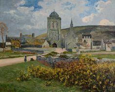 """Maxime Maufra (1861-1918) ~ """"Village de Locronan"""", 1898, Finistère, Bretagne ~ 81 x 100 cm ~ Collection Particulière"""