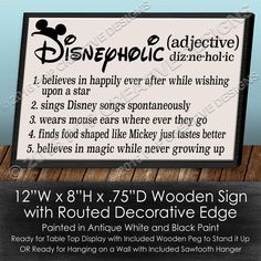 Disneyholic Wooden Sign by PopCreativeDesigns on Etsy