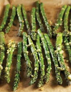Roasted-Garlic Asparagus - going to try to make this for Christmas dinner!
