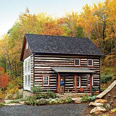 Historic Log Cabin Renovation in Rappahanock... such a perfect setting and renovation.  Can I please have this house??