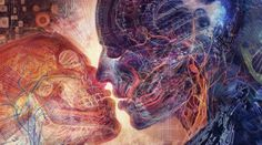 Visionary Artist Android Jones Electric Love by Third Eye Tapestries Android Jones, Alex Gray Art, Alex Grey, Grey Art, Yo Superior, Twin Flame Love, Twin Flames, Flame Art, Twin Souls