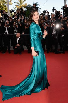 Rachel Weisz in a Prada gown with Chaumet jewels - 'Youth' Premiere - The 68th Annual Cannes Film Festival #Cannes2015 #PradaCelebs