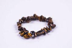 GENUINE TIGER'S EYE Single Chip Bracelet  #Bracelets See more! https://lalamotifs.com/product/genuine-tigers-eye-single-chip-bracelet/