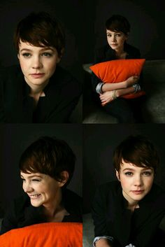She can pull off the Pixie look so well. Pixie Hairstyles, Pixie Haircut, Celebrity Hairstyles, Pretty Hairstyles, Short Hair With Bangs, Short Hair Cuts, Short Hair Styles, Carey Mulligan Hair, Carrie Mulligan