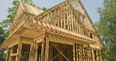 house under construction House Under Construction, Framing Construction, Home Building Tips, Building A House, Building Your Own Home, Building Ideas, Style At Home, Kitchen Hearth Room, Cost To Build