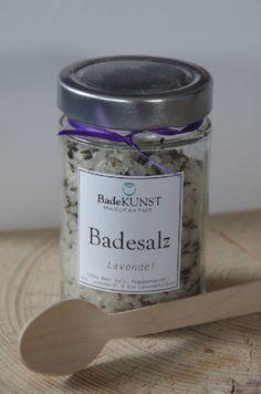 Badesalz Lavendel mit Traubenkernöl und feinen bio Lavendelblüten