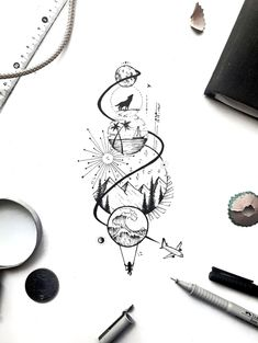 Leg Tattoos, Body Art Tattoos, Sleeve Tattoos, Tattoos For Guys, Spine Tattoos For Women, Tattoos To Draw, Tattoos For Boyfriend, Sugar Skull Tattoos, Tattoo Art
