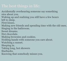 best things in life... almost