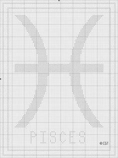 Free Printable Pisces Zodiac Cross Stitch Chart