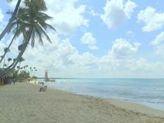Another beautiful day - Dominicus - Bayahibe, Dominican Republic. This is a view from the public beach towards Iberostar, Catalonia, Be live Canoa, Cadaques and the National Park. On the other side of this beach is Viva Palace and Viva Beach resort.