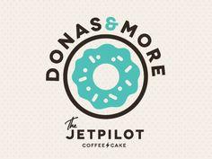 donas & more. cute logo design