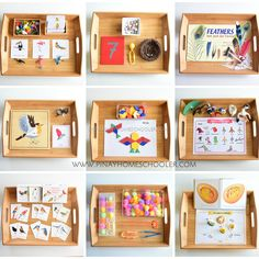 Montessori Inspired Bird Unit Activities for Preschoolers - Easy PinBIRD THEMED ACTIVITIES 🐦🐤🦆🐥 We're attending bird watching/forest school this week and it reminded me of some of the activities we did last…Preschool Animal Habitats using Se Montessori Trays, Montessori Practical Life, Montessori Preschool, Montessori Education, Montessori Materials, Montessori Bedroom, Montessori Elementary, Baby Education, Learning Activities
