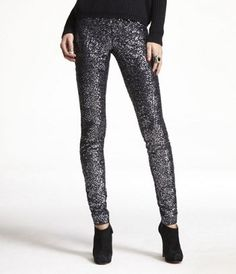 Reckon I've got about three more years in which to pull off things like sequined leggings. Better get on it, then.