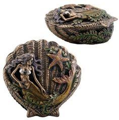 Amazon.com: StealStreet Mermaid Shell Box Jewelry Accessory Holder: Home & Kitchen