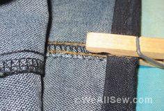how to hem jeans #sew #diy #tip #trick #jeans #denim #weallsew