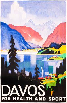 Otto Baumberger Poster: Davos