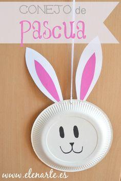 Conejo de pascua papel / www.elenarte.es