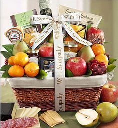 Bountiful fruit gourmet gift basket large the clover pinboard remembering your loved one sympathy gift basket solutioingenieria Choice Image