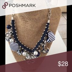 Navy NAUTICAL Charm Necklace NWT Navy & White NWT NAUTICAL Charm Necklace Jewelry Necklaces