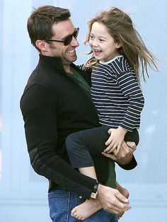 Happy Daddy's Day: The top 10 hottest celebrity dads!!  TOP 3: Hugh Jackman with smiley Ava