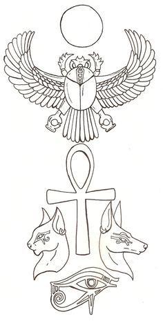 Egyptian Tattoo Art | Egyptian Tattoo by Fachhillis