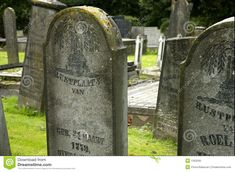 old Tombstone | Old tombstones from the 18th, 19th and 20th century in a village in ...
