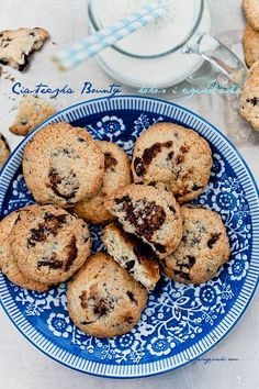 Coconut and Chocolate Chip Cookies Cupcakes, Cupcake Cookies, Croissants, Cookie Desserts, Cookie Recipes, Biscuits, Muffins, Pudding, Polish Recipes