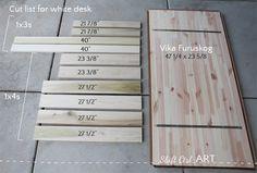 IKEA Hackers: Framed: Vika Furuskog gets a custom base Small White Desk, Modern White Desk, White Desks, Diy Wood Desk, Diy Desk, Diy Wooden Projects, Wooden Diy, Diy Furniture Cheap, Furniture Plans