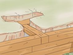 How to Build a Strong Retaining Wall with Treated Post. The instructions for building a retaining wall out of treated post aim to help ambitious homeowners and do-it-yourselfers tackle this task. Wooden Retaining Wall, Backyard Retaining Walls, Retaining Wall Design, Building A Retaining Wall, Building A Deck, Retaining Wall Steps, Retaining Wall Construction, Backyard Fireplace, Landscape Timbers