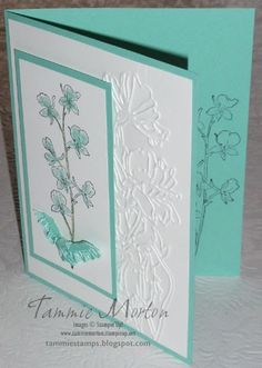 "By Tammie Morton. ""Flower Garden"" embossing folder by Stampin' Up/Sizzix."