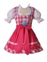 Vorschau: Kinderdirndl Tapfheim pink/weiß/türkis Set 3-tlg. BayerMadl