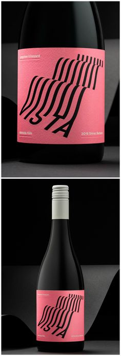 A Typographical Label Design Rolling Landscapes, Graphic Contours of Rows of Vines Design Agency: Voice Project Name: Longview Vista Category: #wine #drink