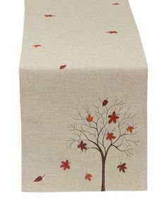 Love this Fall Tree Embroidered Table Runner on #zulily! #zulilyfinds