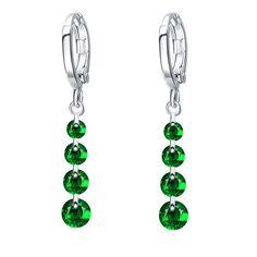 Gold Color Silver Color Crystal Earring Brincos Long Pendant Drop Earring Rhinestone Dangle Earrings For Women Gift Pendiente
