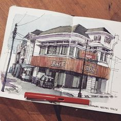 Beautiful architecture #illustration by @yandi_p . . #art #illustration #drawing #draw #picture #artist #sketch #sketchbook #paper #pen #pencil #artsy #instaart #beautiful #instagood #gallery #masterpiece #creative #instaartist #graphic #graphics #artoftheday #urbansketch #urbansketchers #architecture #architecturestudent #architecturelovers