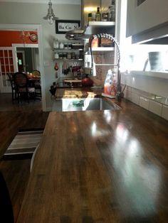 Kitchen storage, open shelves, transitional kitchen