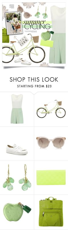 """Summer Cycling"" by singingintherain-788 ❤ liked on Polyvore featuring Roland Mouret, Primitives By Kathy, Ten Thousand Things, Louis Vuitton, Baggallini, summerstyle, heatwave and citycycling"